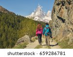 hiking in the beautiful alps ...   Shutterstock . vector #659286781