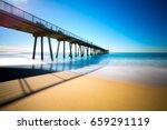 hermosa pier | Shutterstock . vector #659291119