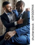 gay couple together love | Shutterstock . vector #659300944