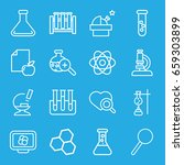 research icons set. set of 16... | Shutterstock .eps vector #659303899