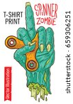 zombie hand holding a child's...   Shutterstock .eps vector #659306251
