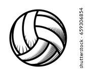 voleyball ball isolated | Shutterstock .eps vector #659306854