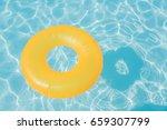 bright orange float in blue...   Shutterstock . vector #659307799