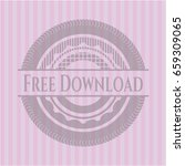 free download retro style pink...