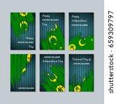 cocos islands patriotic cards... | Shutterstock .eps vector #659309797