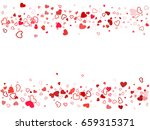 flying hearts vector pattern.... | Shutterstock .eps vector #659315371