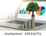 finance and investing concept....   Shutterstock . vector #659316721