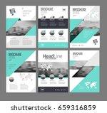 six trendy brochures templates... | Shutterstock .eps vector #659316859