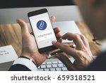 paper clip mail file attachment ... | Shutterstock . vector #659318521