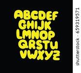 font  alphabet  abc  letters | Shutterstock .eps vector #659319571