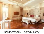 luxury bedroom hotel interior ... | Shutterstock . vector #659321599