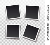 set of square frame template... | Shutterstock .eps vector #659322121