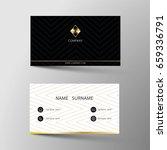 business card. | Shutterstock .eps vector #659336791