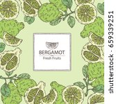 background with bergamot and... | Shutterstock .eps vector #659339251