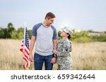 Happy Military Couple