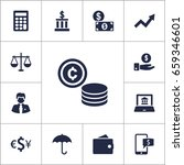 set of 13 budget icons set... | Shutterstock .eps vector #659346601