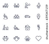 set of 16 people outline icons... | Shutterstock .eps vector #659347159