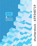 light blue isometric abstract... | Shutterstock .eps vector #659348719