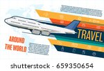 infographic traveling together. ... | Shutterstock .eps vector #659350654