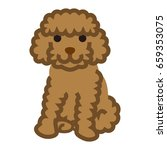 miniature poodle simple cartoon ... | Shutterstock .eps vector #659353075