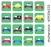 car collection | Shutterstock .eps vector #659356225