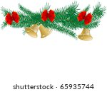 golden bells with red bow | Shutterstock . vector #65935744