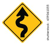 winding road sign isolated on... | Shutterstock .eps vector #659361055