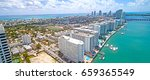 miami beach western bay side... | Shutterstock . vector #659365549