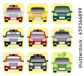 public service cars | Shutterstock .eps vector #659366899