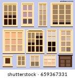 set of house windows vector ... | Shutterstock .eps vector #659367331