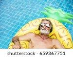 closeup of caucasian senior man ... | Shutterstock . vector #659367751