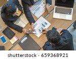 business consultants is... | Shutterstock . vector #659368921