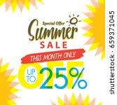 summer sale set v.4 25 percent...   Shutterstock .eps vector #659371045