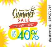summer sale set v.4 40 percent...   Shutterstock .eps vector #659371069