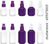 spray bottle cosmetic violet...   Shutterstock .eps vector #659373025