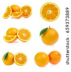 set of orange isolated on white ... | Shutterstock . vector #659373889