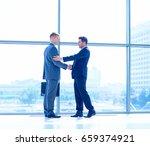 full length image of two... | Shutterstock . vector #659374921