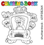 coloring book with school... | Shutterstock .eps vector #65938264