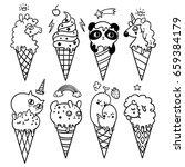 vector illustration of pop cute ... | Shutterstock .eps vector #659384179