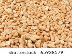 Background of roasted peanuts. - stock photo