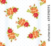 seamless floral pattern with... | Shutterstock .eps vector #659398591