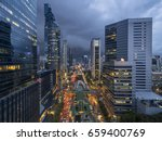 road traffic in city at... | Shutterstock . vector #659400769