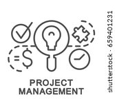 project management icon.... | Shutterstock .eps vector #659401231