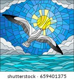 illustration in stained glass... | Shutterstock .eps vector #659401375