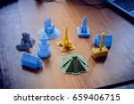 bright objects printed by a 3d... | Shutterstock . vector #659406715