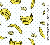 vector seamless pattern with... | Shutterstock .eps vector #659409271