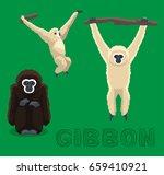 ape gibbon cartoon vector... | Shutterstock .eps vector #659410921