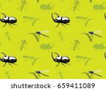 insects wallpaper beetle... | Shutterstock .eps vector #659411089