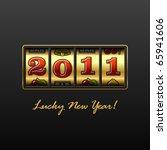 lucky new year  | Shutterstock .eps vector #65941606