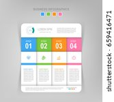 infographic template of four... | Shutterstock .eps vector #659416471